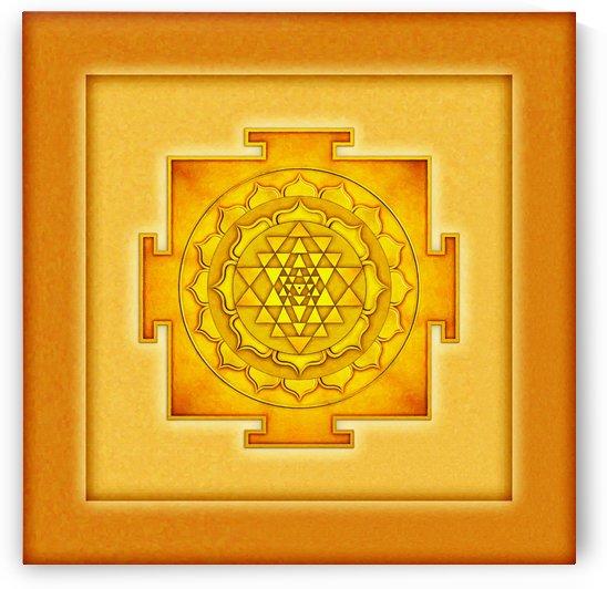 Golden Sri Yantra III by Dirk Czarnota