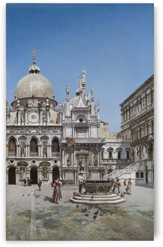 Doge Palace in Venice by Federico Del Campo