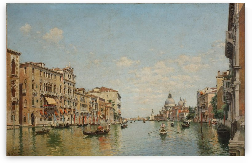 View of the Grand Canal of Venice by Federico Del Campo