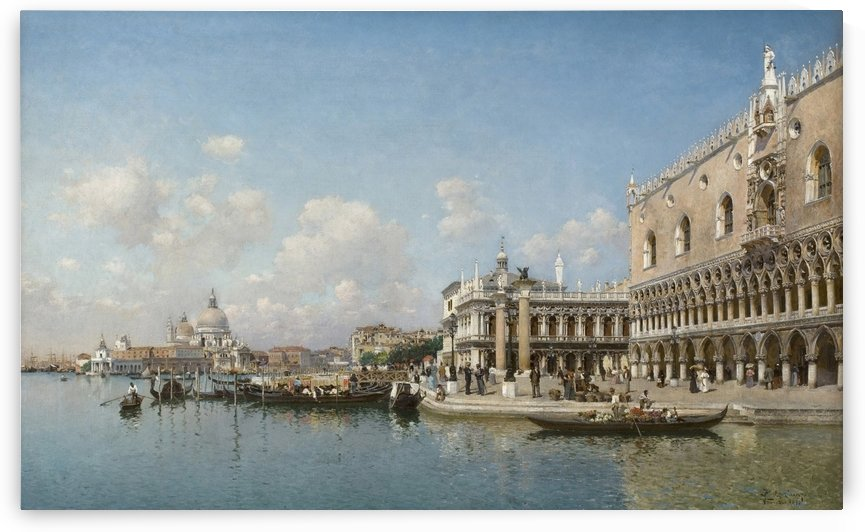 The Doge Palace and Santa Maria Della Salute by Federico Del Campo