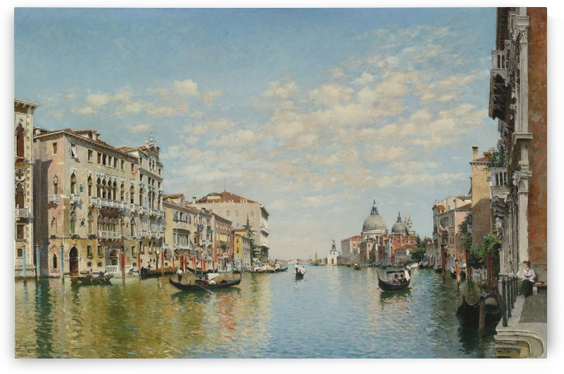 Gondoliers on The Grand Canal in Venice by Federico Del Campo
