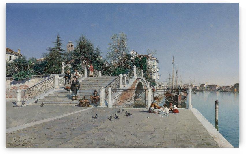 Peruvian Ponte Della Calcina, Dorsoduro, Venice by Federico Del Campo
