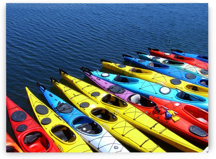 Colorful Kayaks by Don Margulis