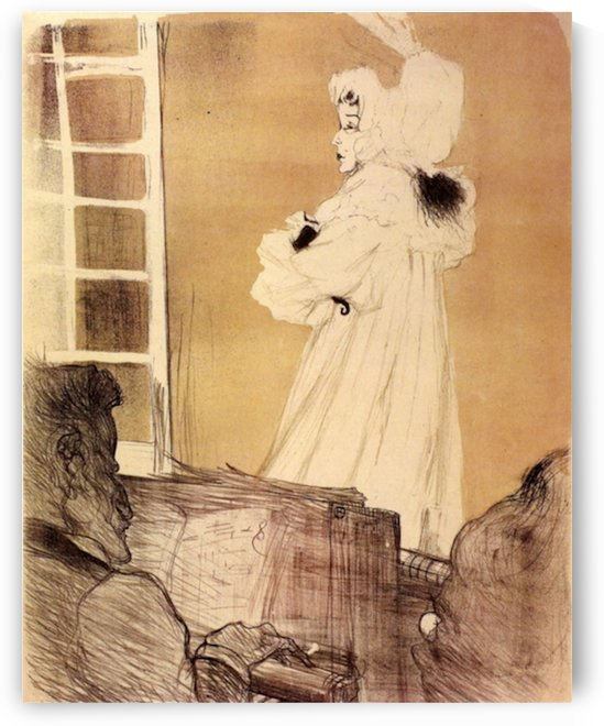 Miss Mary Belfort by Toulouse-Lautrec by Toulouse-Lautrec