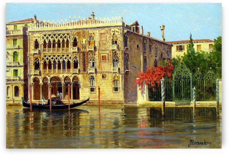 Along the Grand Canal in Venice by Federico Del Campo