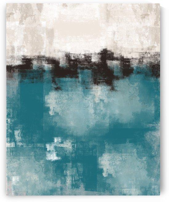 Blue Gray Black Abstract DAP 20013 by Edit Voros