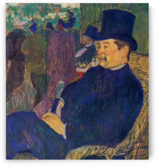 Mister Delaporte in the garden of Paris by Toulouse-Lautrec by Toulouse-Lautrec
