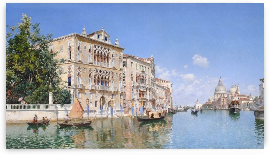 The Grand Canal Looking Towards Santa Maria Della Salute by Federico Del Campo