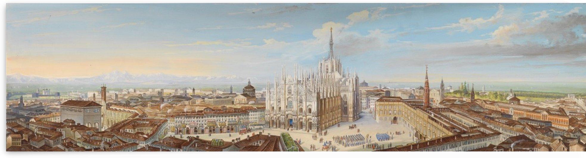 Panorama von Mailand by Leopoldo Calvi