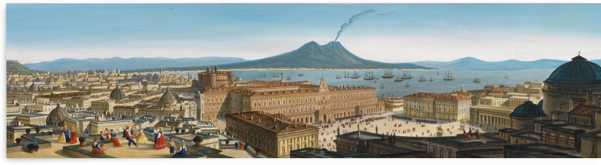 Panorama von Neapel by Leopoldo Calvi
