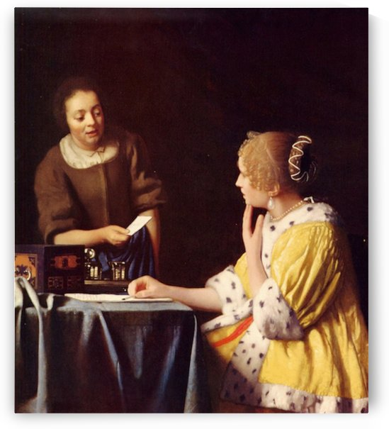 Mistress and maid by Vermeer by Vermeer
