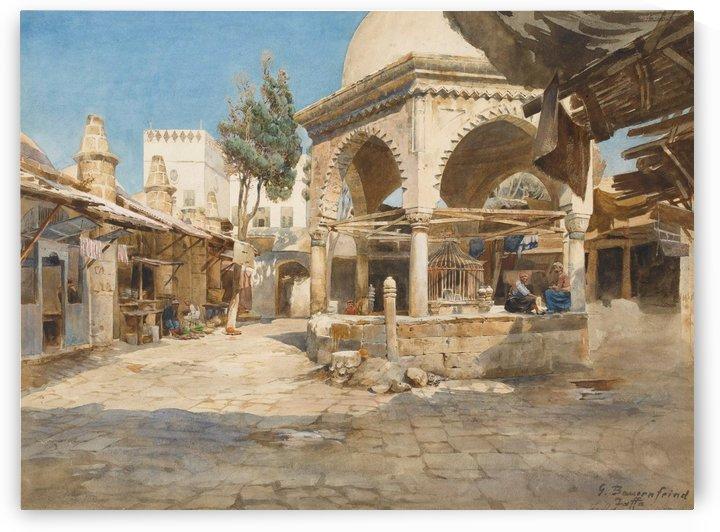 A well in Jaffa by Gustav Bauernfeind