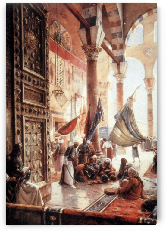 The Gate of the Great Mosque, Damascus by Gustav Bauernfeind