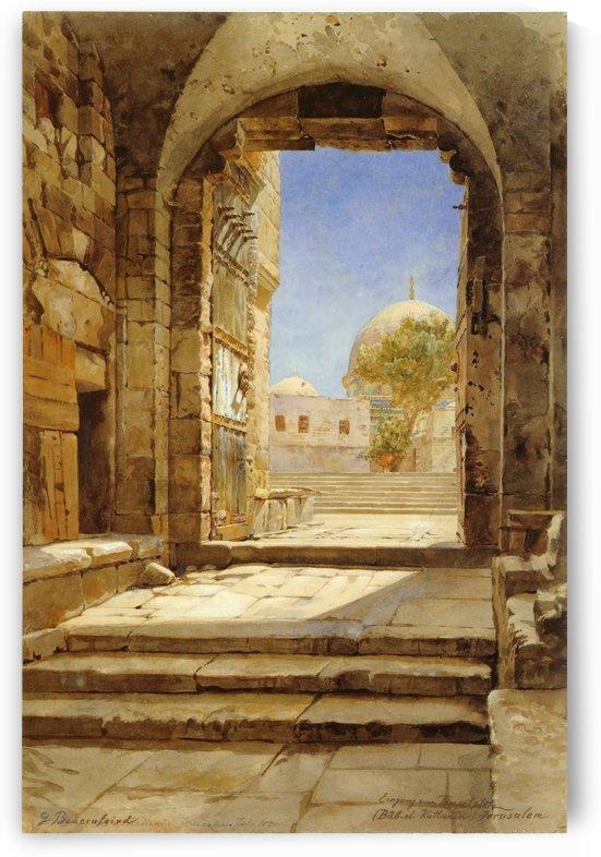 Eingang zum Tempelplatz in Jerusalem by Gustav Bauernfeind