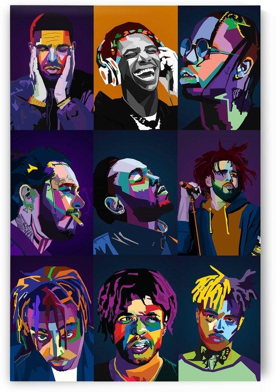 Rapper Collage by Long Art