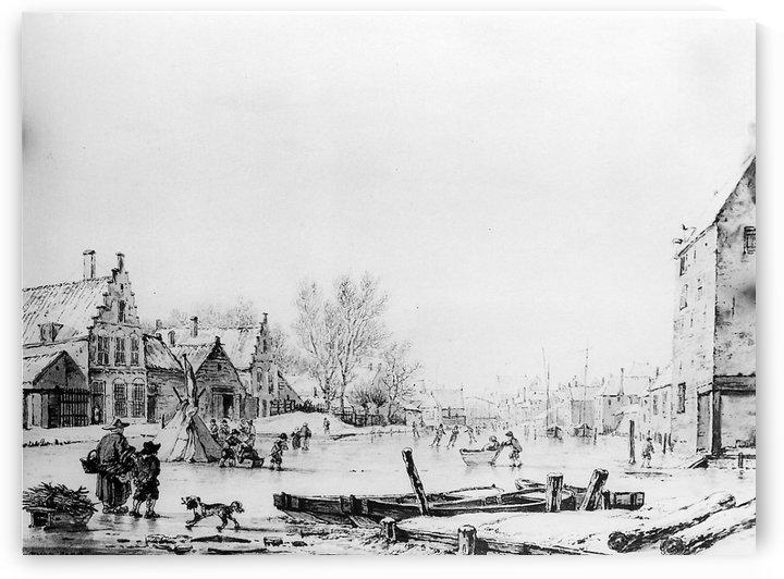 Winter Spuihaven Dordrecht by Jacob van Strij