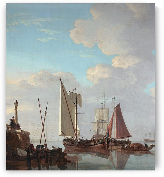 Entering a Dutch port by Abraham van Strij
