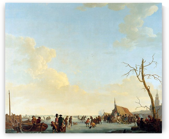 Merriment on Frozen River by Abraham van Strij