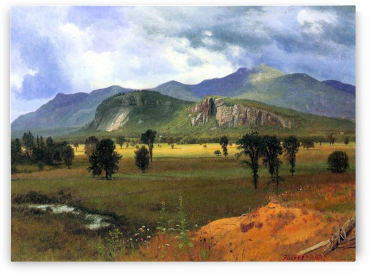 Moat Mountain, Intervale, New Hampshire by Bierstadt by Bierstadt