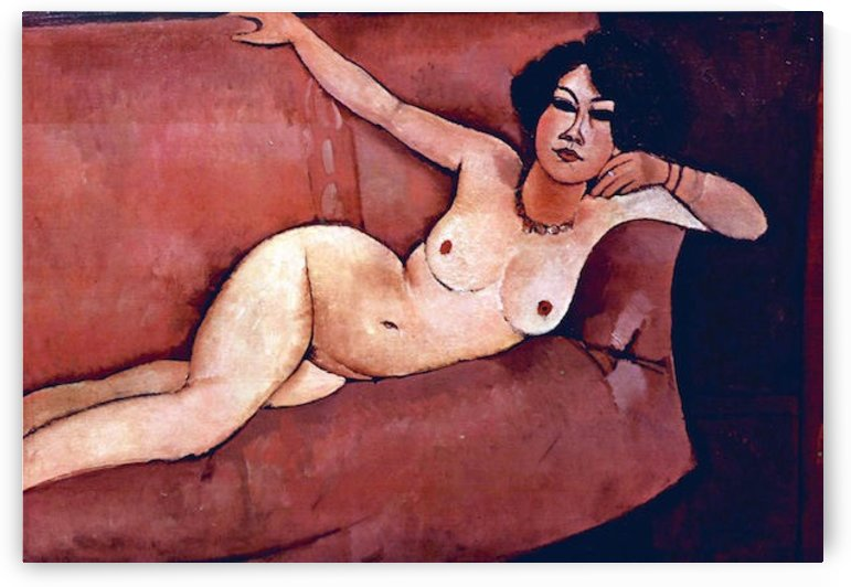 Modigliani - Act on a sofa (Almaiisa) by Modigliani