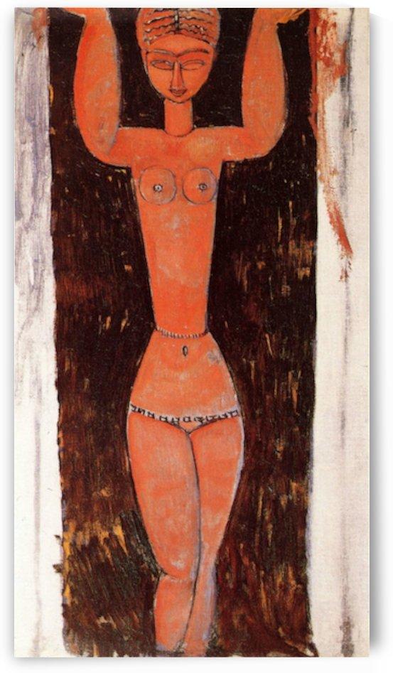 Modigliani - Caryatid -2- by Modigliani