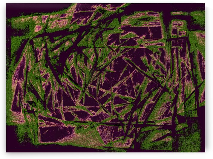 abstract green and purple by Pracha Yindee