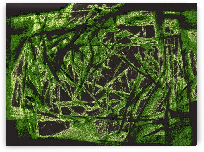 abstract green 2 by Pracha Yindee