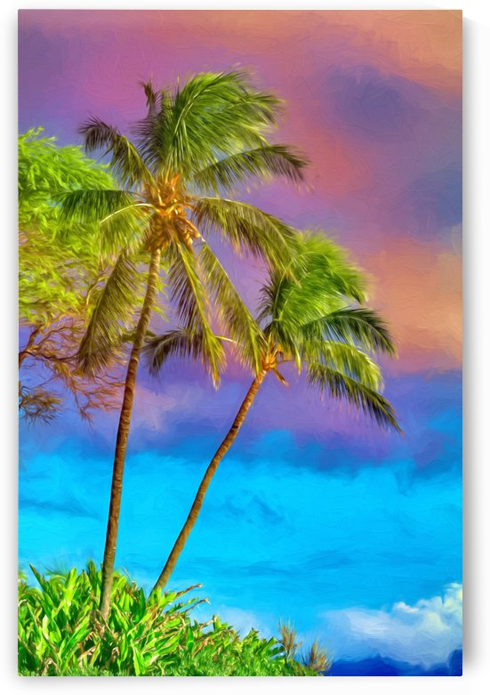 Palms Against The Sky by Jacqueline Sleter