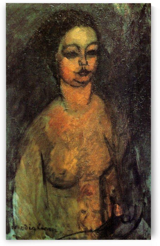 Modigliani - Female nude -2- by Modigliani