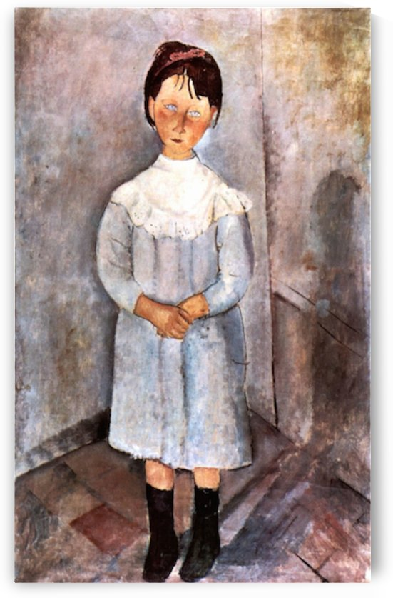 Modigliani - Girl in blue by Modigliani