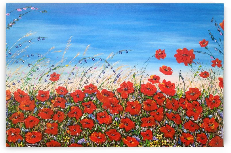 Poppies in the Wind by Ginny Wilkie