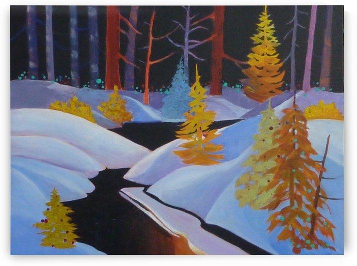 winterwonderland.acrylic by Marjorie Young