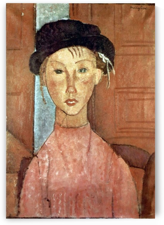 Modigliani - Girl with Hat by Modigliani