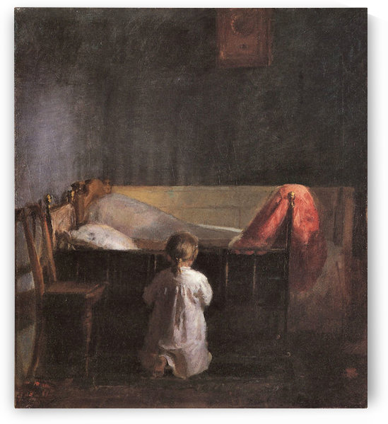 Evening Prayer by Anna Ancher by Anna Ancher