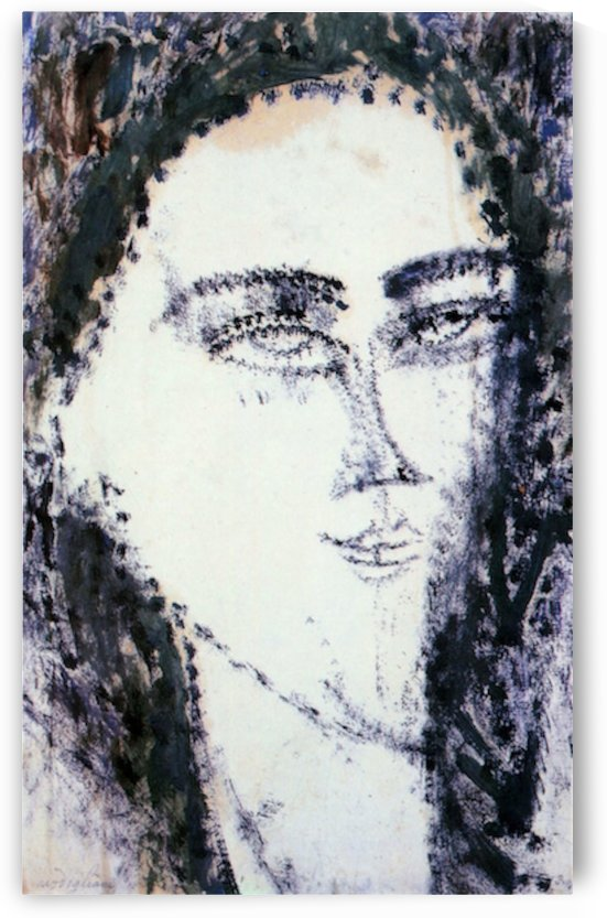 Modigliani - Head -2- by Modigliani