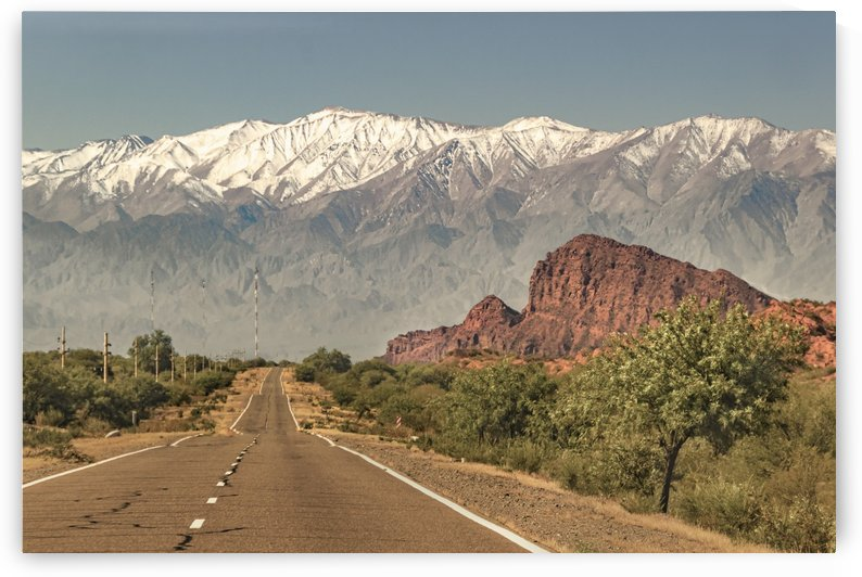 Empty Highway Landscape La Rioja Argentina by Daniel Ferreia Leites Ciccarino