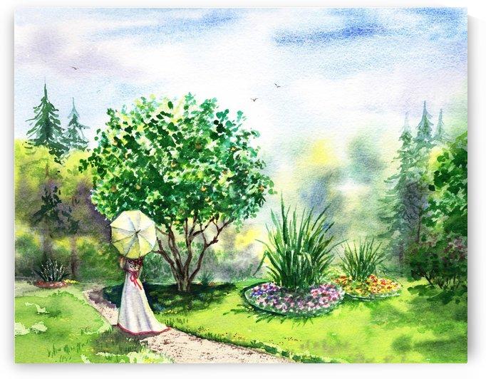 Strolling In The Garden by Irina Sztukowski