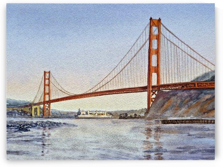 San Francisco California Golden Gate Bridge by Irina Sztukowski