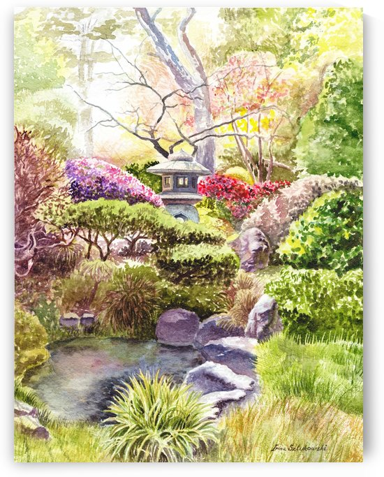San Francisco Golden Gate Park Japanese Tea Garden  by Irina Sztukowski