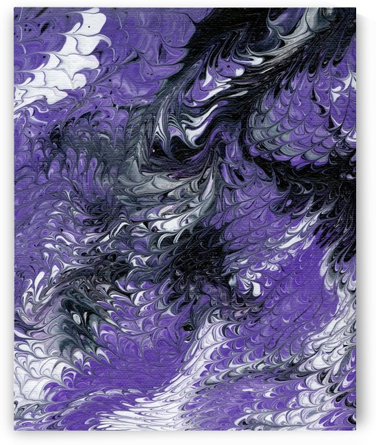 Purple Marbled by Pamela Soto