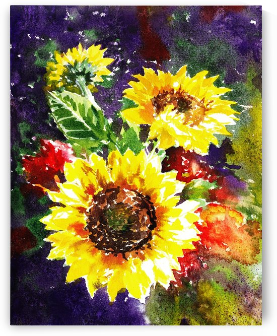 Impressionism And Sunflowers by Irina Sztukowski