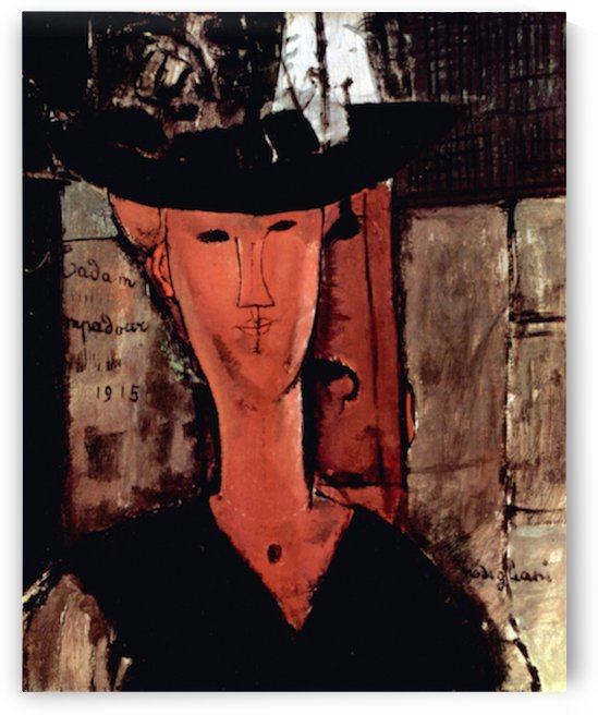 Modigliani - Lady With Hat by Modigliani