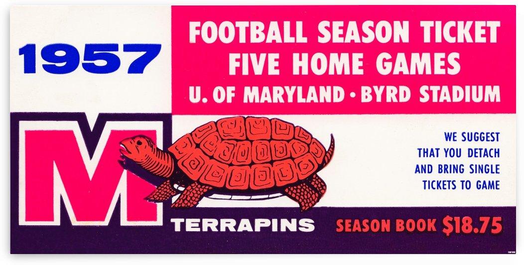 1957 maryland football season ticket art by Row One Brand