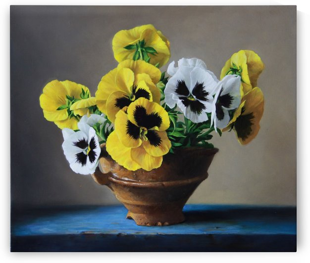 yellow violets  by Pieter Wagemans