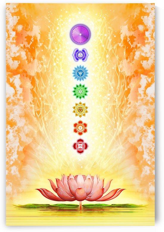 Sacred Lotus - The Seven Chakras by Dirk Czarnota