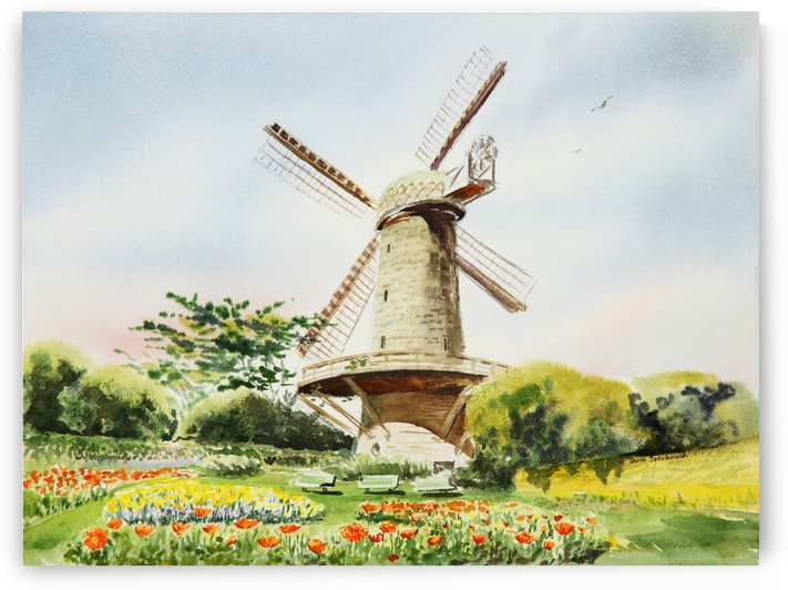Dutch Windmill in San Francisco  by Irina Sztukowski