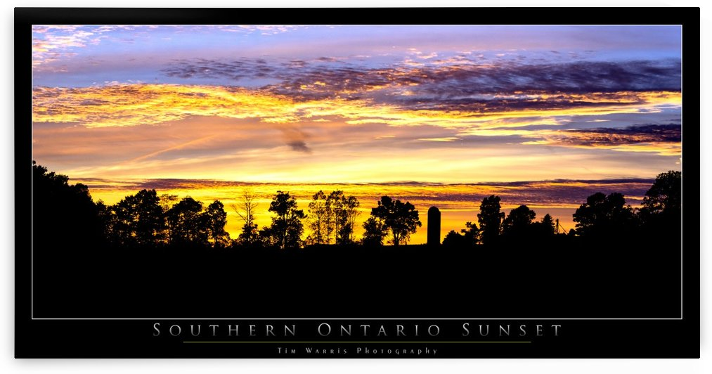 Southern Ontario Sunset by Tim Warris Photography