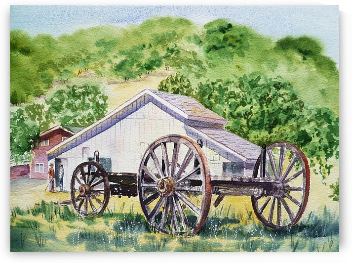 Barn and Old Wagon at Eugene O Neill Tao House by Irina Sztukowski
