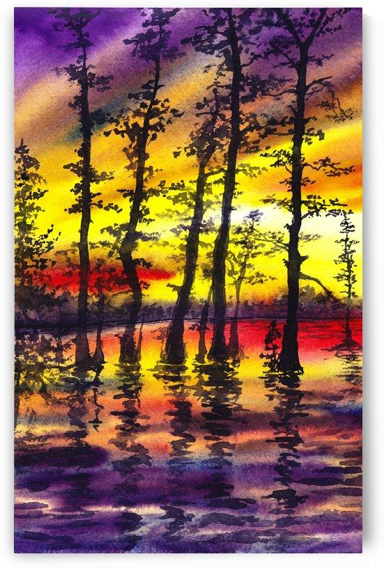 Bright Sunset Through The Trees by Irina Sztukowski