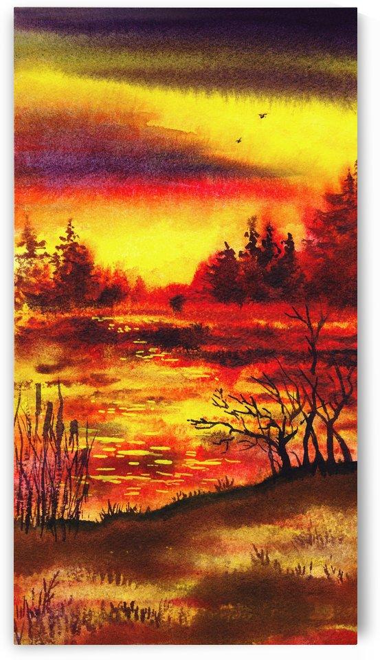 Bright Sunset At The Lake by Irina Sztukowski